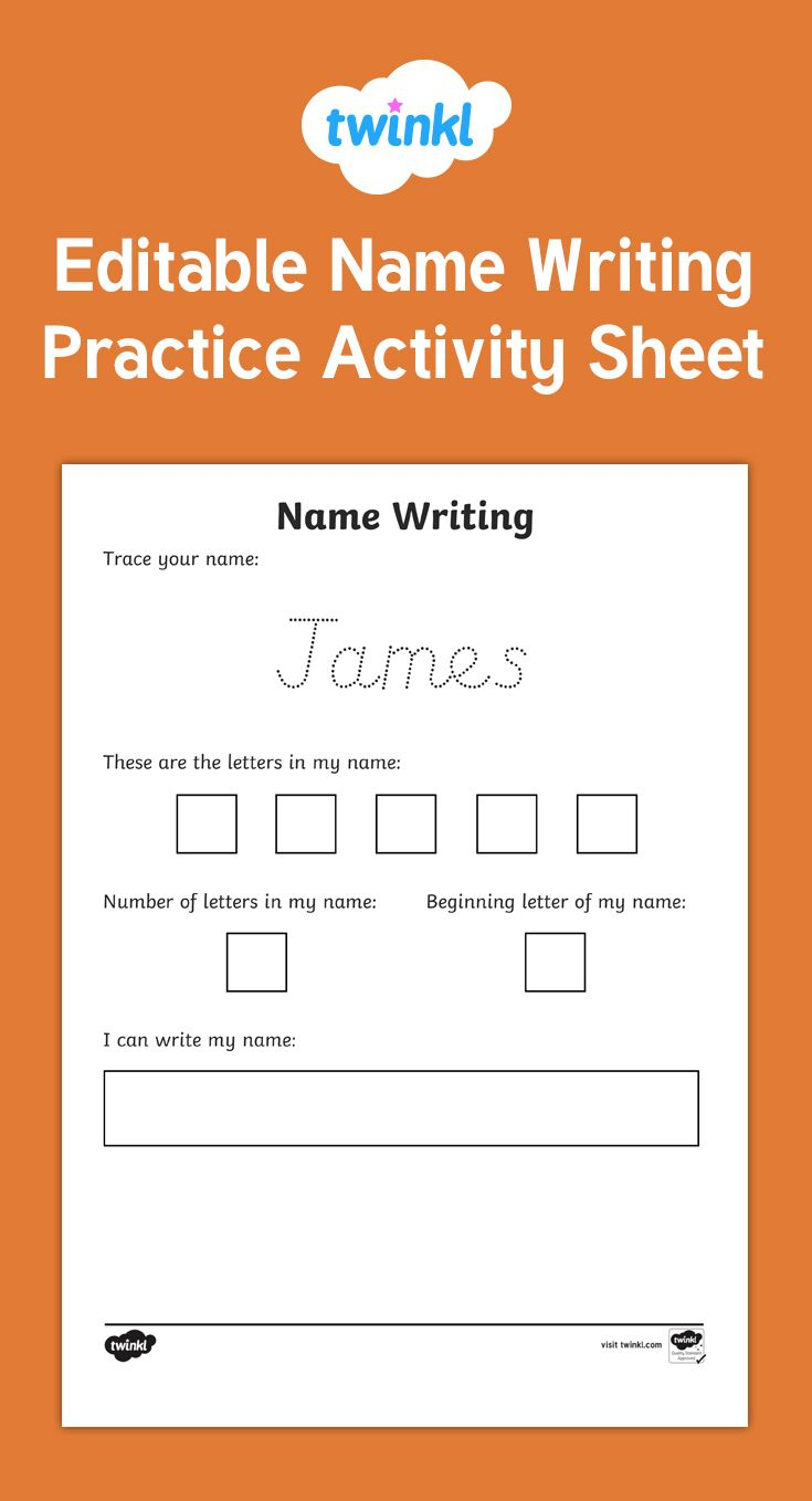 This Activity Sheet Is The Perfect Tool For Name Writing regarding Name Tracing Twinkl