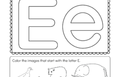 Letter E Worksheets For Pre K