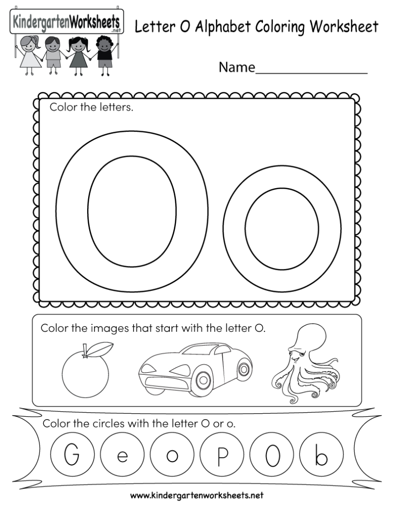 This Is A Letter O Coloring Worksheet. Kindergarteners Can Inside Letter O Worksheets Free