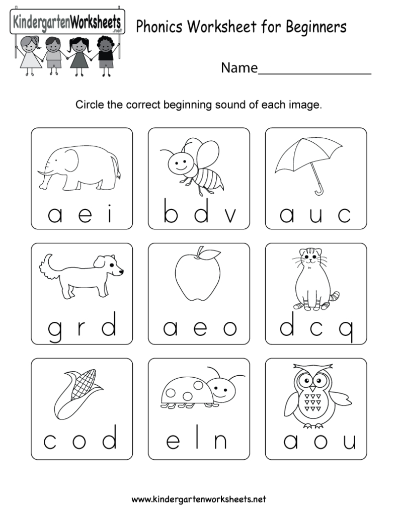 This Is A Phonics Worksheet That Allows Kids To Learn About Within Alphabet Phonics Worksheets For Kindergarten