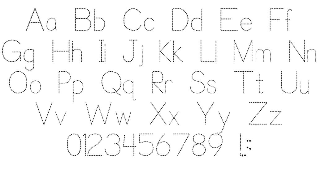 Trace Font For Kids | P. J. Cassel | Fontspace Inside Alphabet Tracing Font