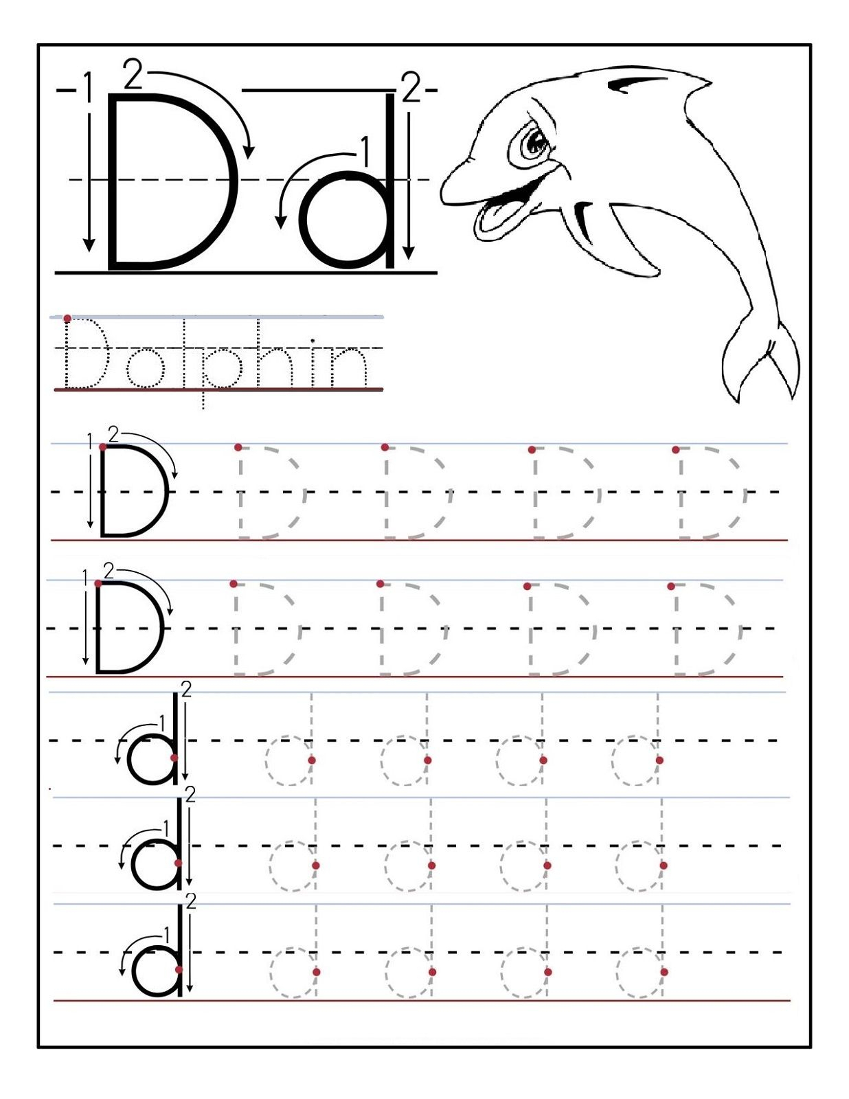 Trace Letter D Worksheets | Tracing Worksheets Preschool with regard to D Letter Tracing Worksheet