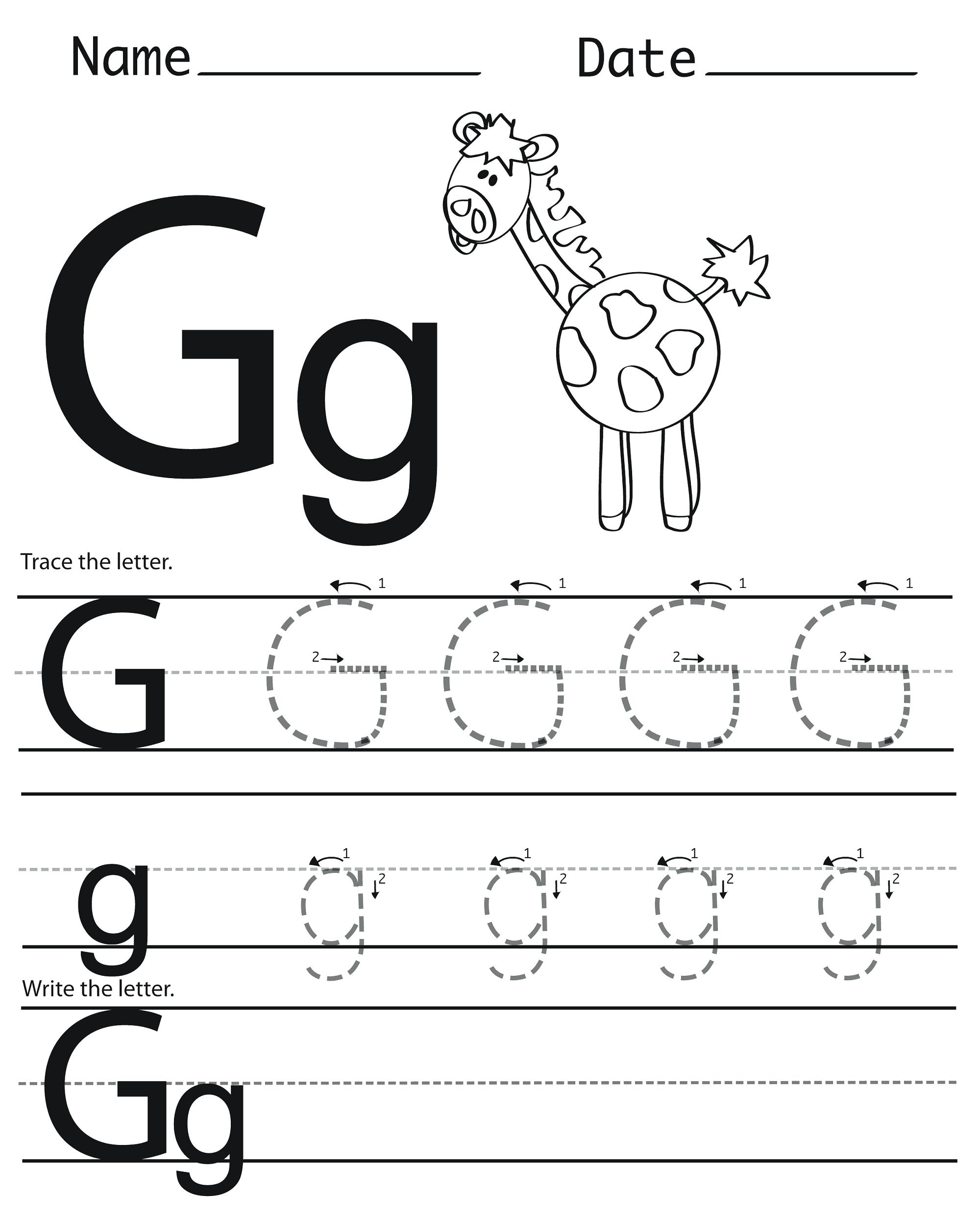 Trace Letter G Letter G Activities Trace Letter Generator with Letter G Worksheets Twisty Noodle