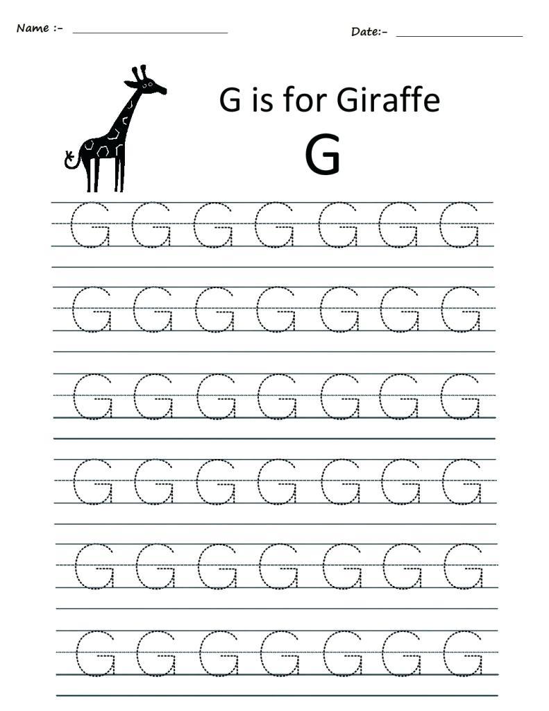 Trace Letter G Trace Letter G Activity Trace Small Letter C intended for Letter G Worksheets For Kindergarten Pdf