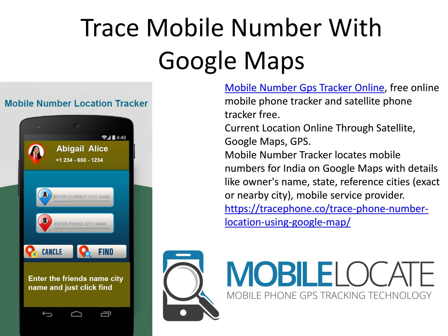 Trace Mobile Number With Google Mapsbaetelley - Issuu throughout Name Tracking By Mobile Number