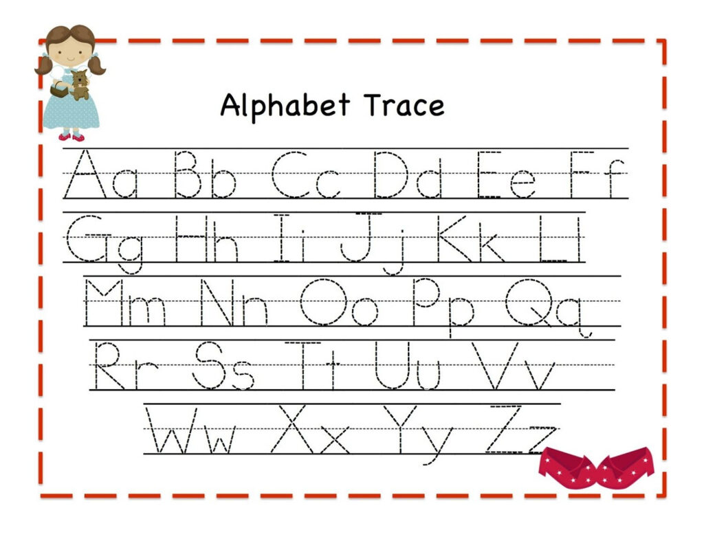 Traceable Alphabet For Learning Exercise | Dear Joya With Alphabet Tracing Exercises