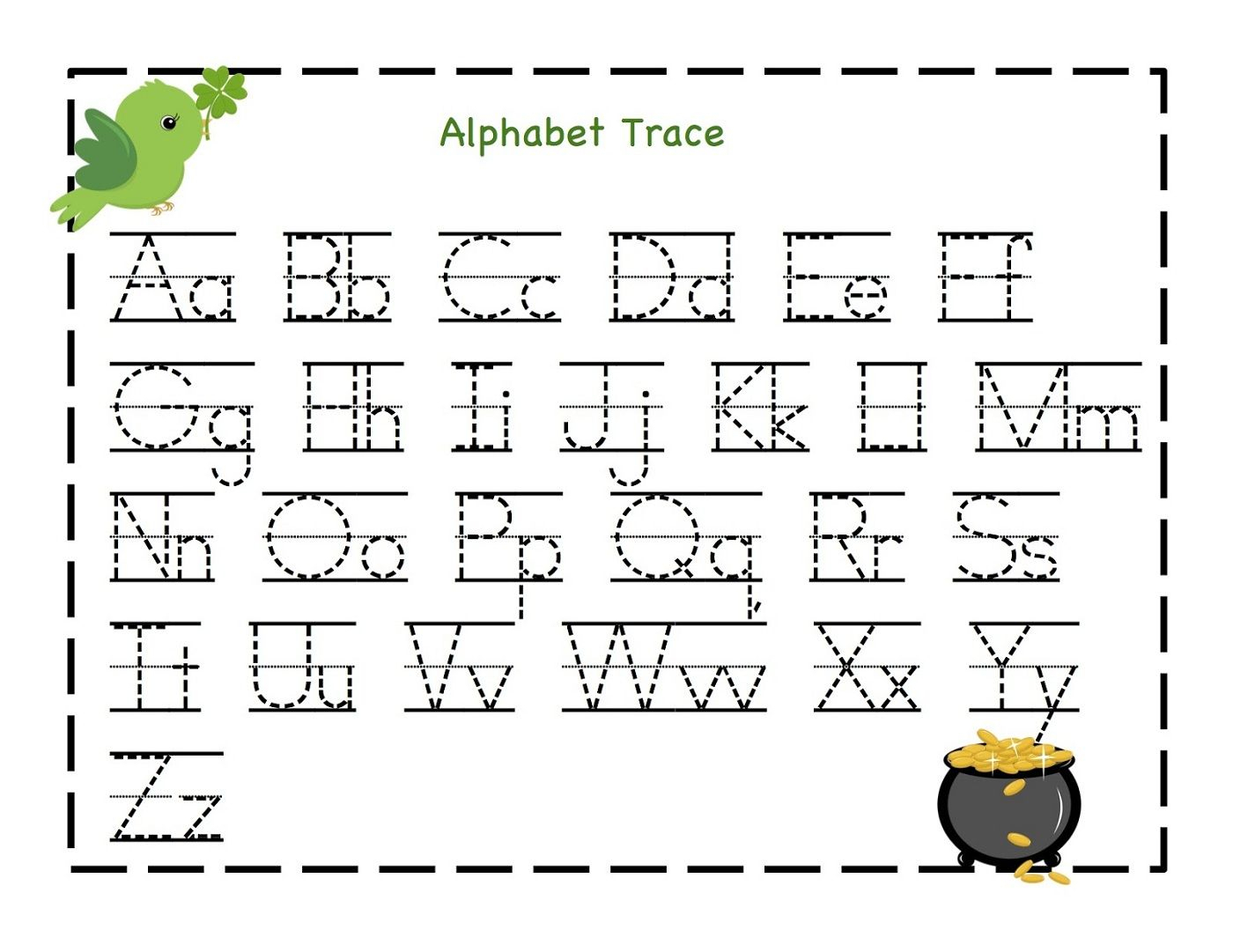 Traceable Letter Worksheets To Print | Alphabet Kindergarten pertaining to Alphabet Worksheets For Toddlers