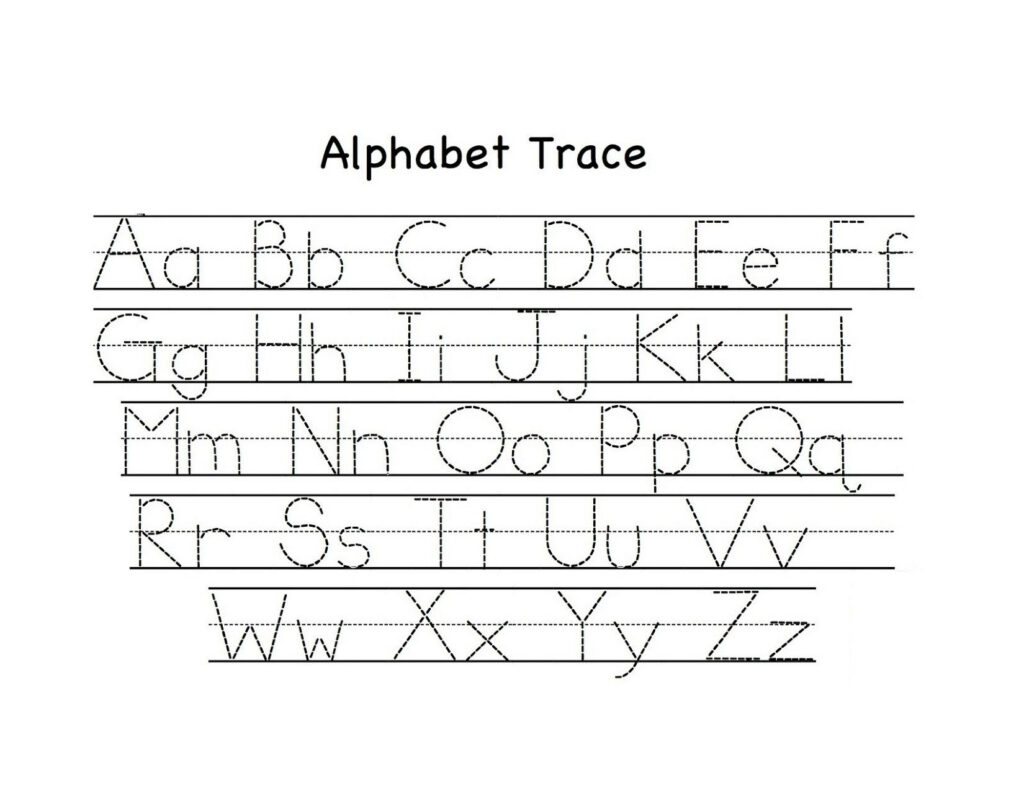 Traceable Upper And Lowercase Alphabet | Preschool Tracing With Upper And Lowercase Alphabet Tracing