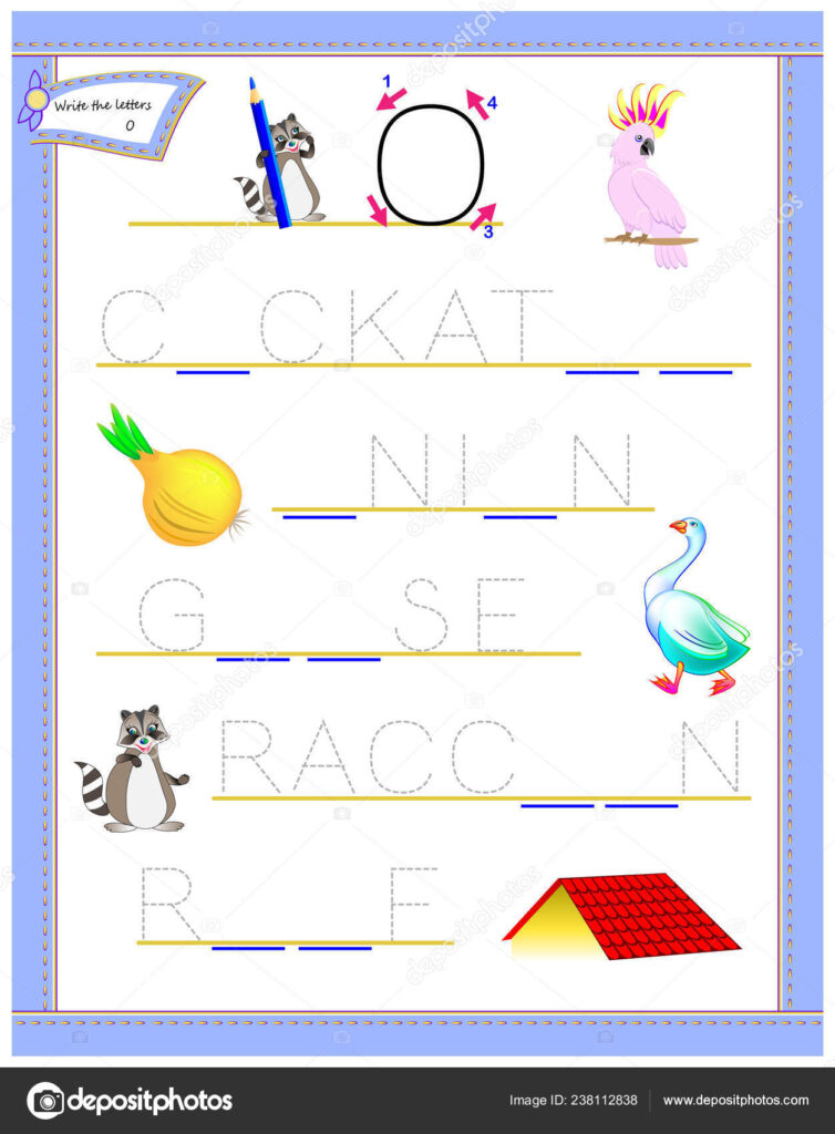 Tracing Letter Study English Alphabet Printable Worksheet Throughout Alphabet Tracing Puzzle