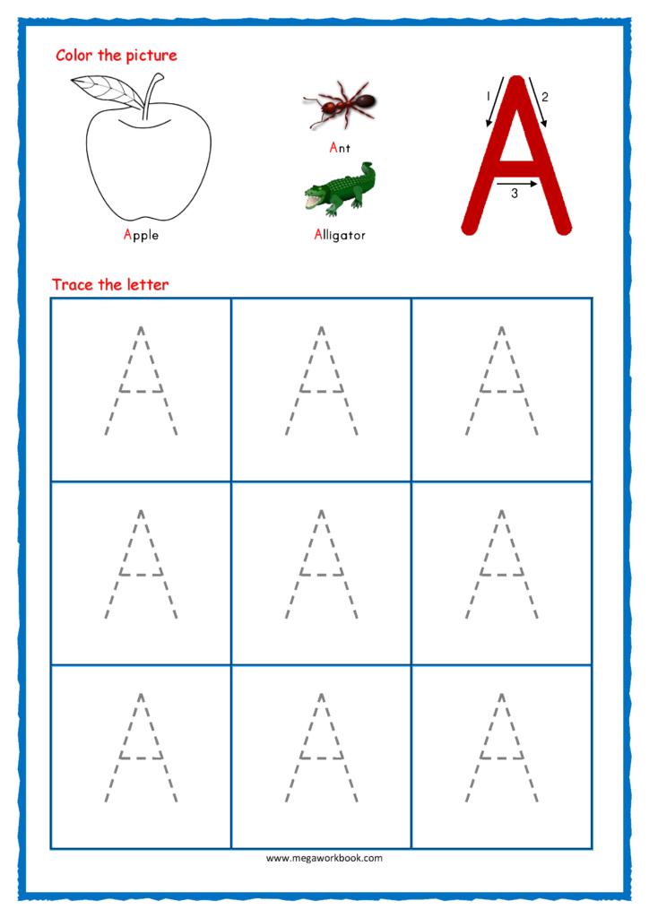 Tracing Letters   Alphabet Tracing   Capital Letters Regarding Alphabet Tracing Kindergarten