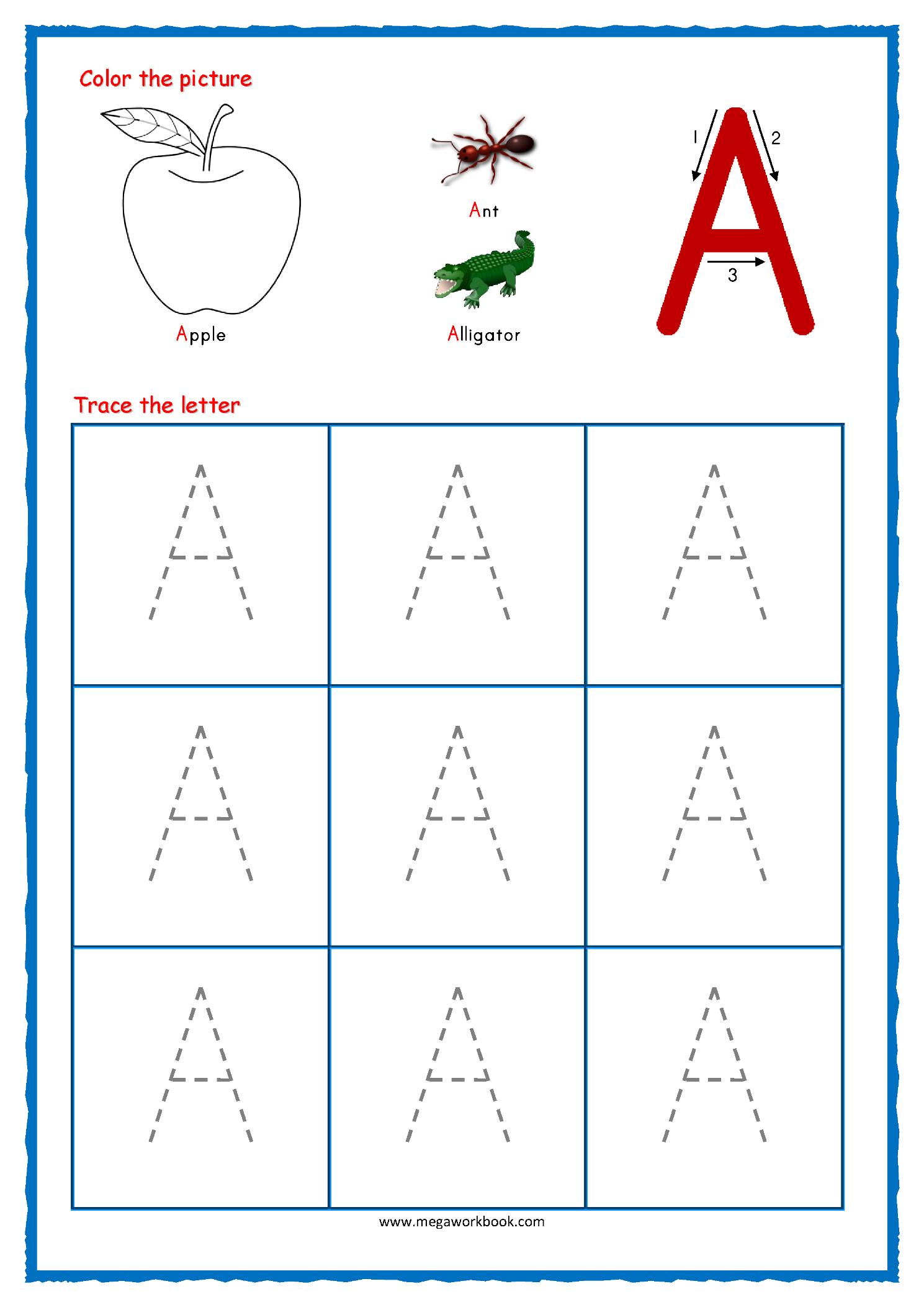 Tracing Letters - Alphabet Tracing - Capital Letters regarding Alphabet Tracing Kindergarten
