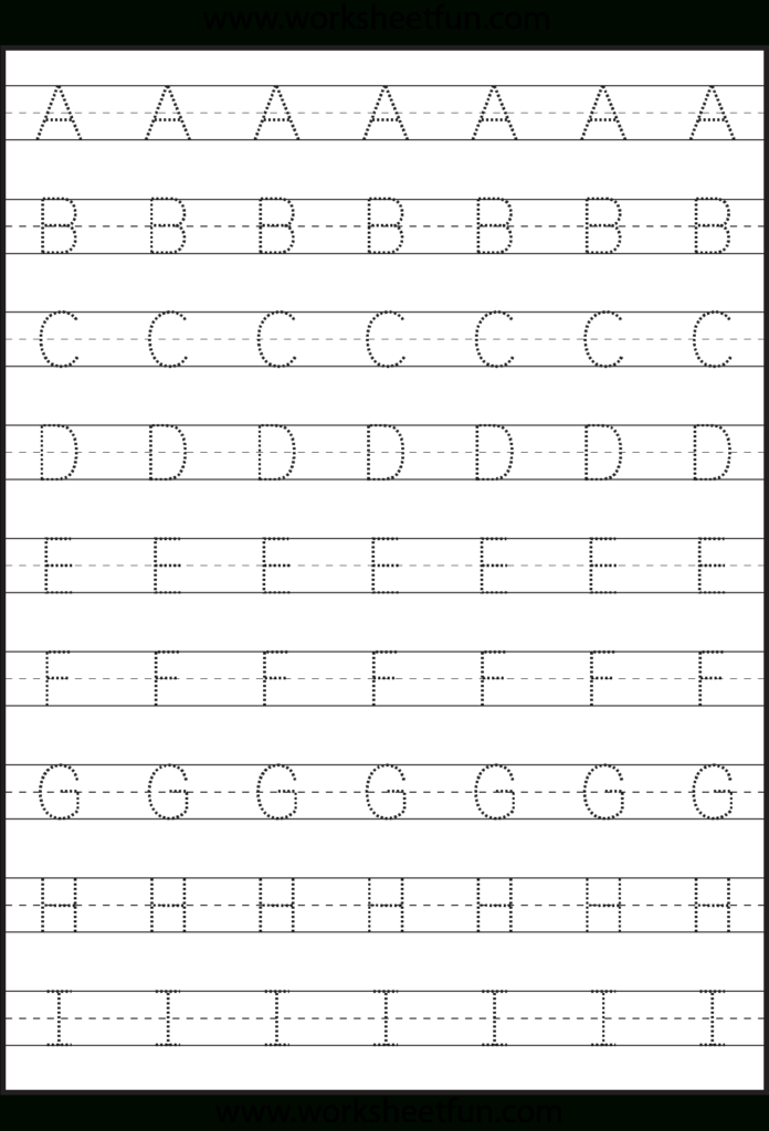 Tracing – Uppercase Letters – Capital Letters – 3 Worksheets Inside Alphabet Tracing Pages Pdf