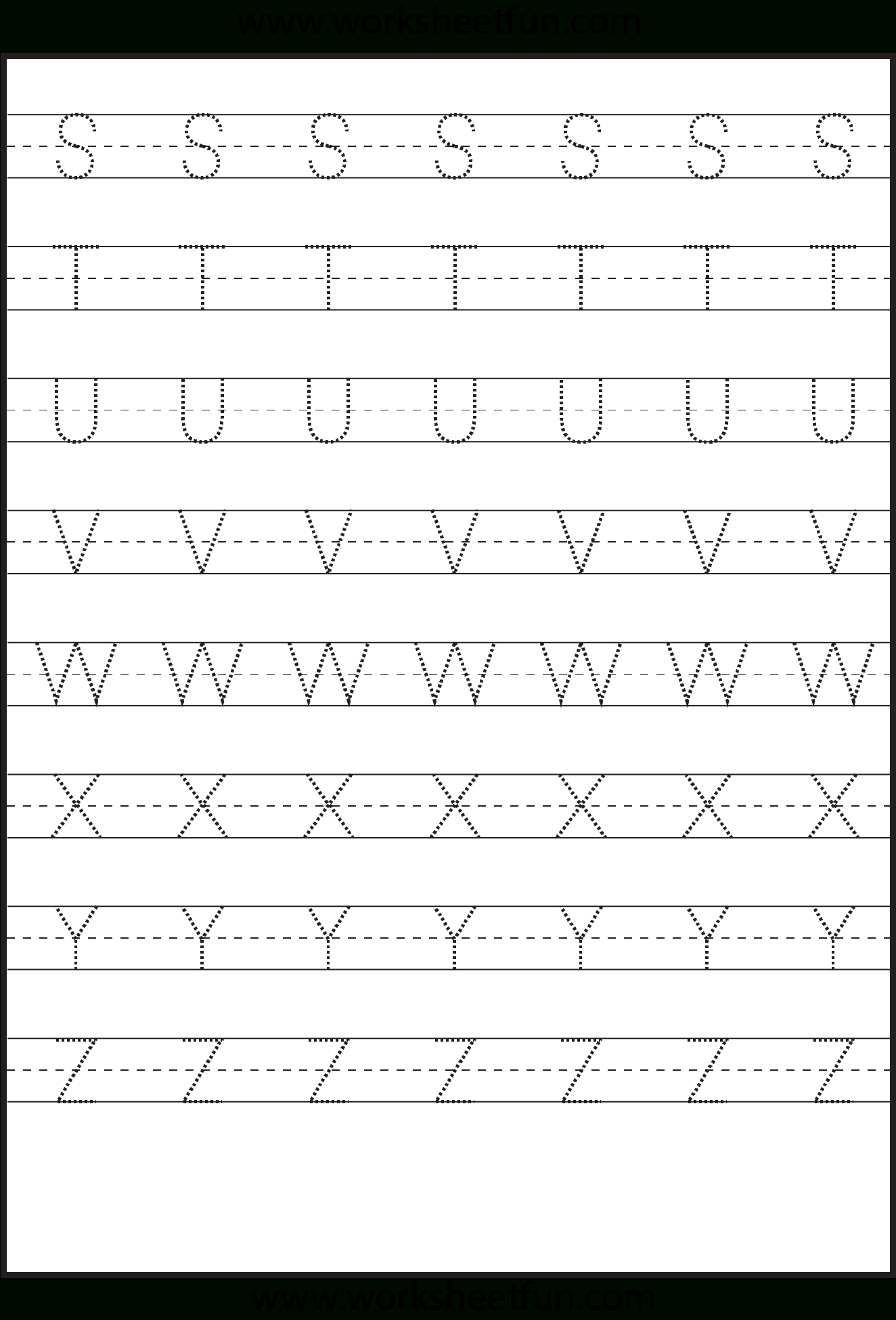 Tracing – Uppercase Letters – Capital Letters – 3 Worksheets within Uppercase Alphabet Tracing
