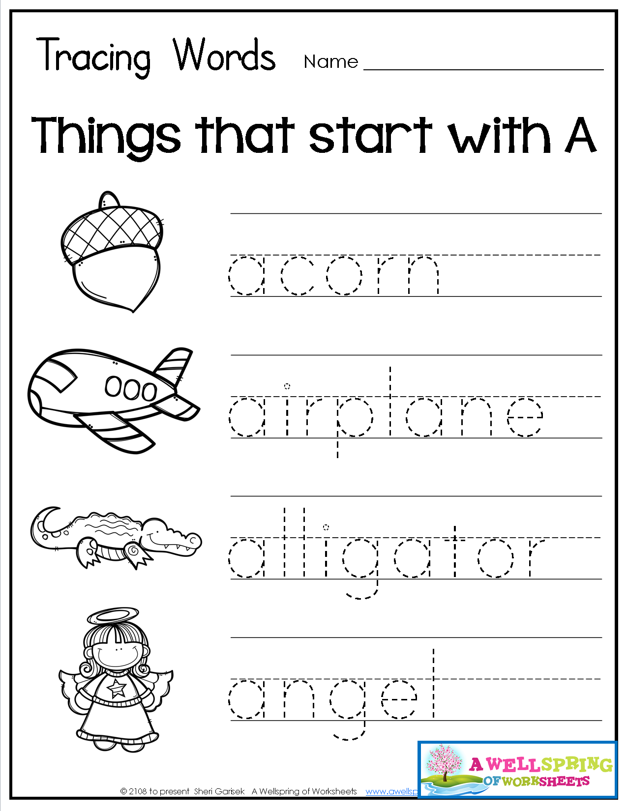 Tracing Words - Things That Start With A-Z | Three Letter throughout Letter L Worksheets Twisty Noodle