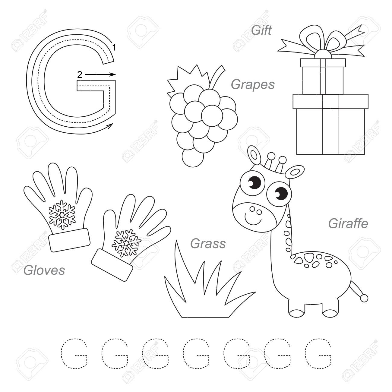 Tracing Worksheet For Children. Full English Alphabet From A.. pertaining to Alphabet G Tracing Worksheets