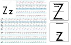 Tracing Worksheet -Zz Stock Vector. Illustration Of Fast inside Letter Tracing Z
