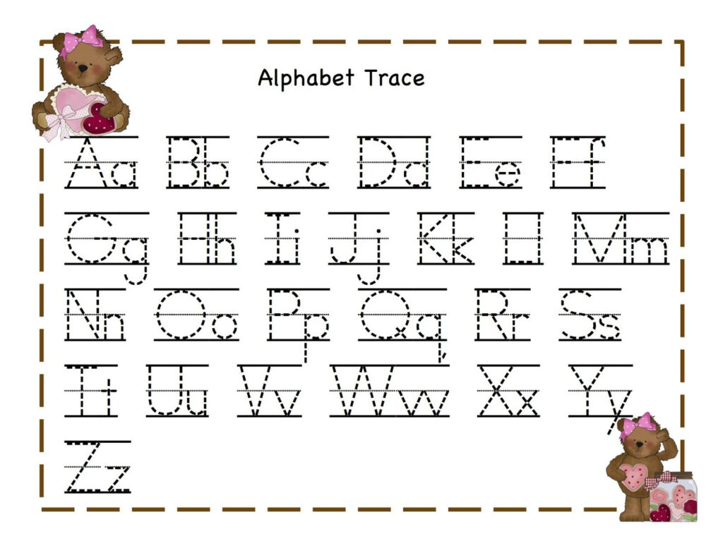 Tracing Worksheets For 4 Year Olds Inside Alphabet Tracing For 4 Year Old