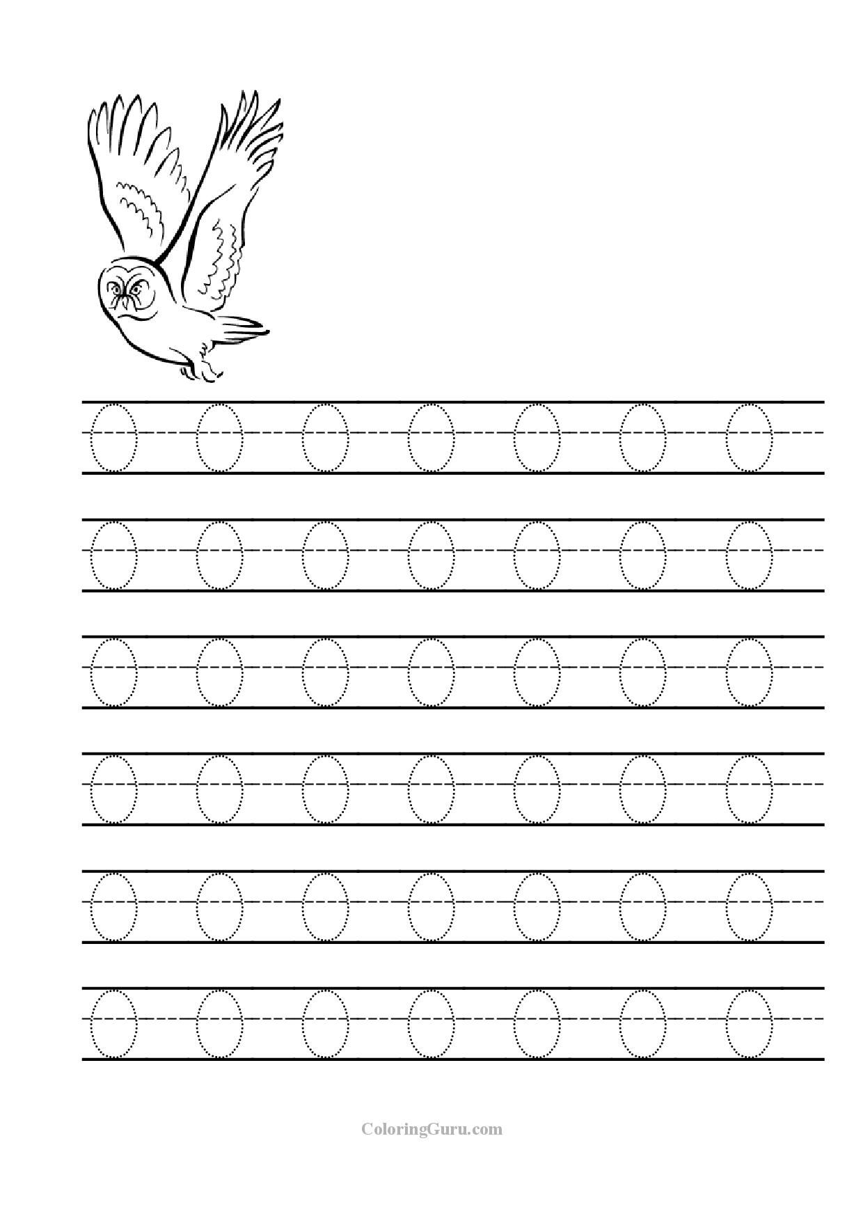 Tracing_Letter_O_Worksheets_For_Preschool 1,240×1,754 for Alphabet O Tracing