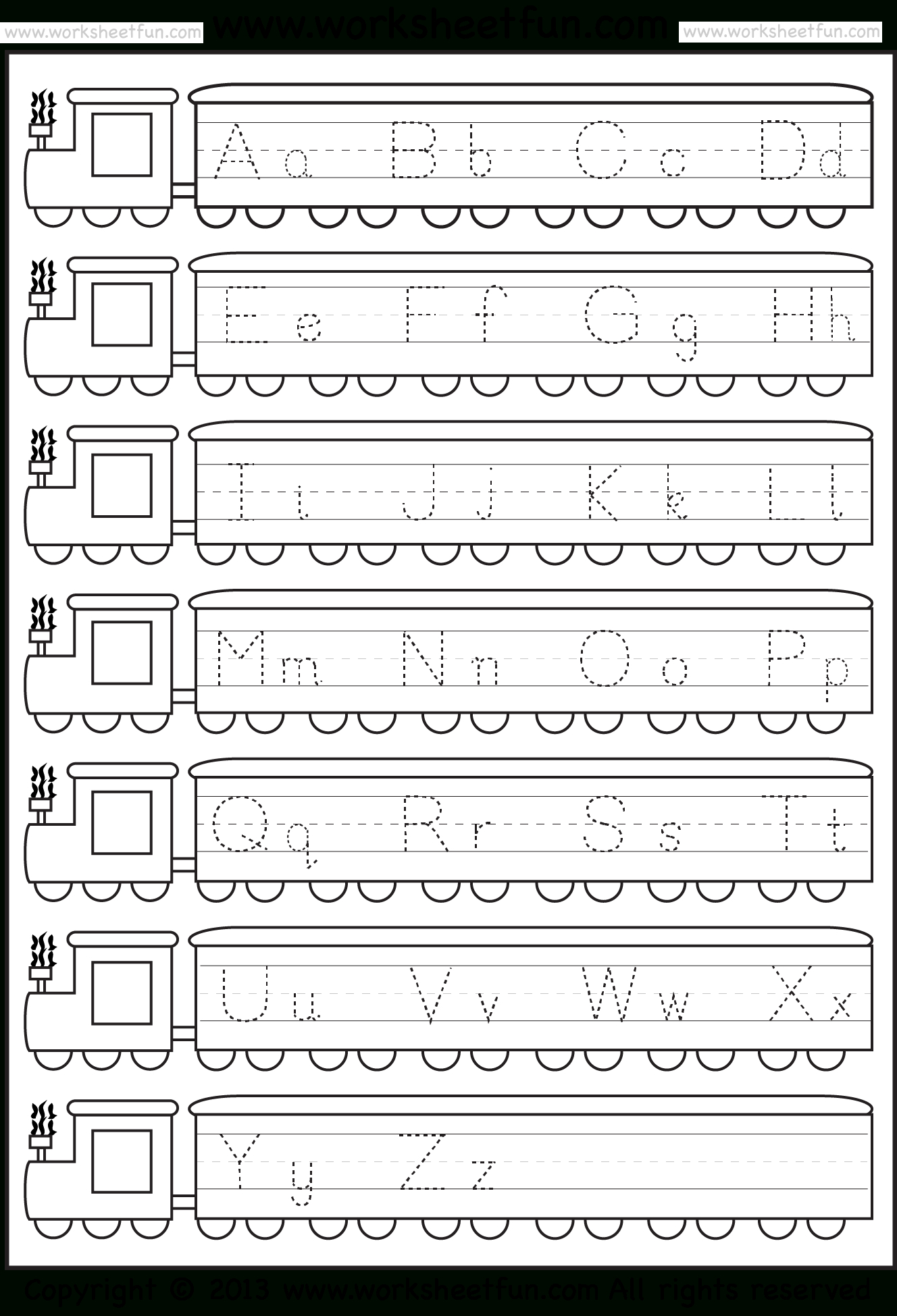 Train Letter Tracing | Letter Tracing Worksheets, Tracing regarding Alphabet Tracing Train