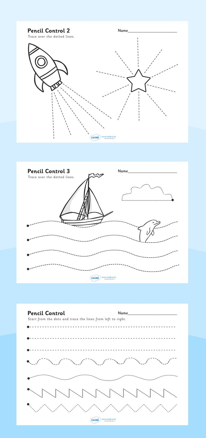 Twinkl Resources >> Pencil Control Worksheets >> Printable within Name Tracing Twinkl