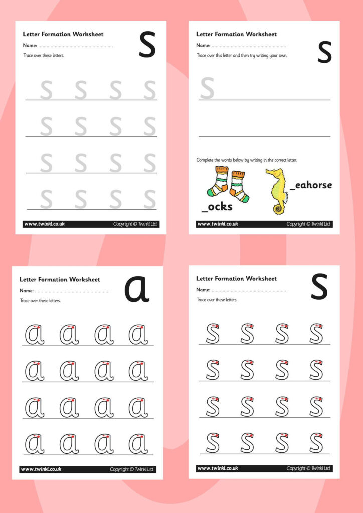 Twinkl Resources >> Phase 2 Letter Formation Worksheets For Letter S Worksheets Twinkl