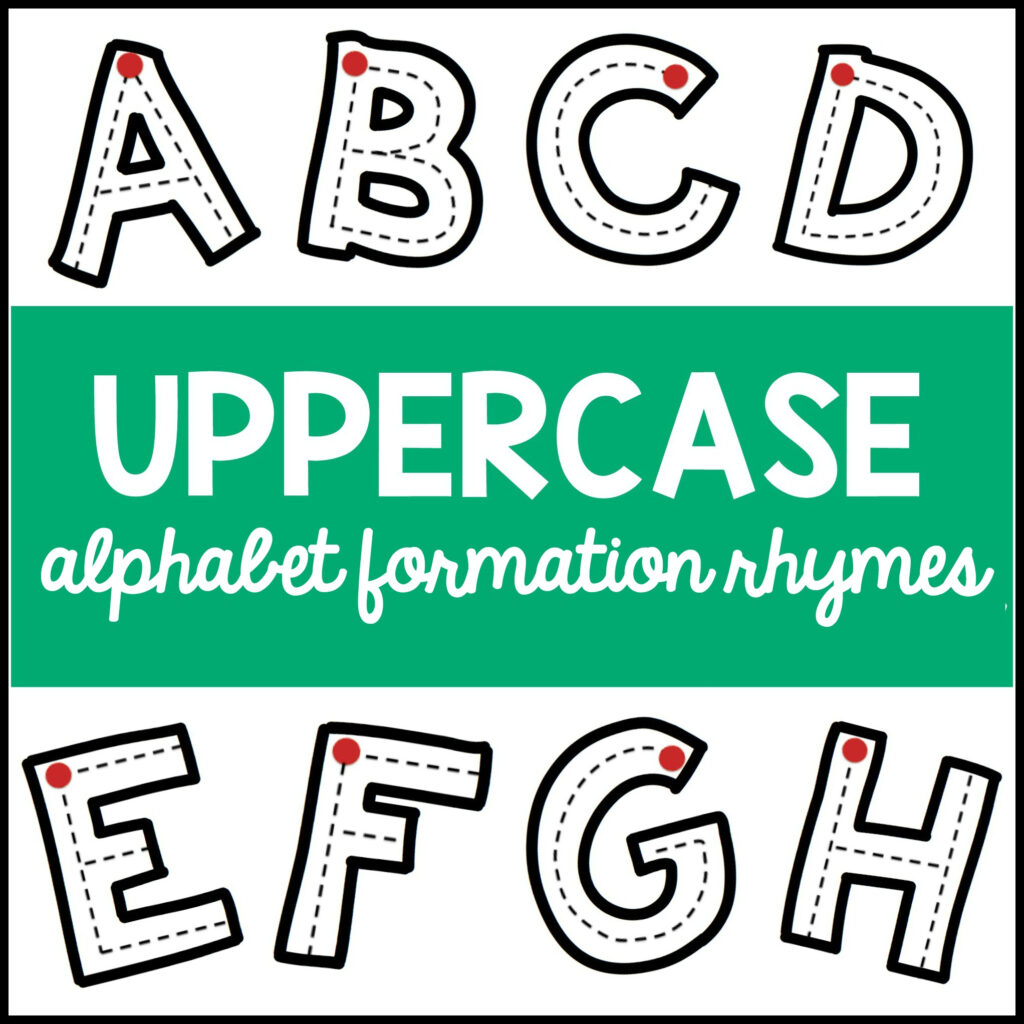 Uppercase Alphabet Formation Rhymes Pertaining To Alphabet Tracing Rhymes