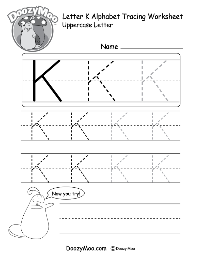 Uppercase Letter Tracing Worksheets (Free Printables For Letter K Worksheets For Prek