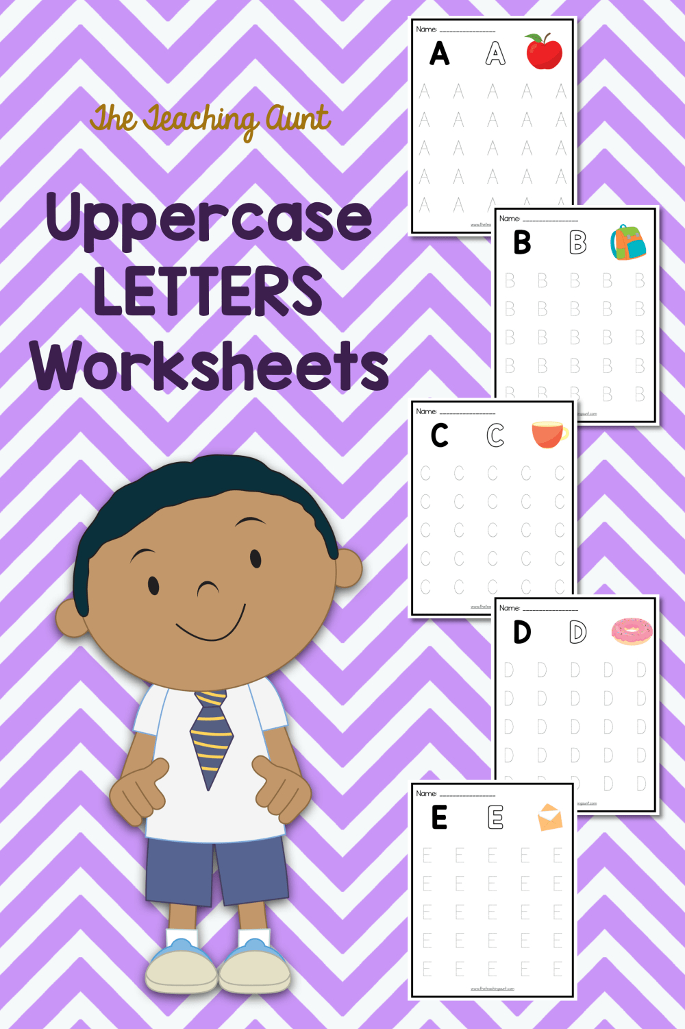 Uppercase Letters Tracing Worksheets - The Teaching Aunt in Letter Orientation Worksheets
