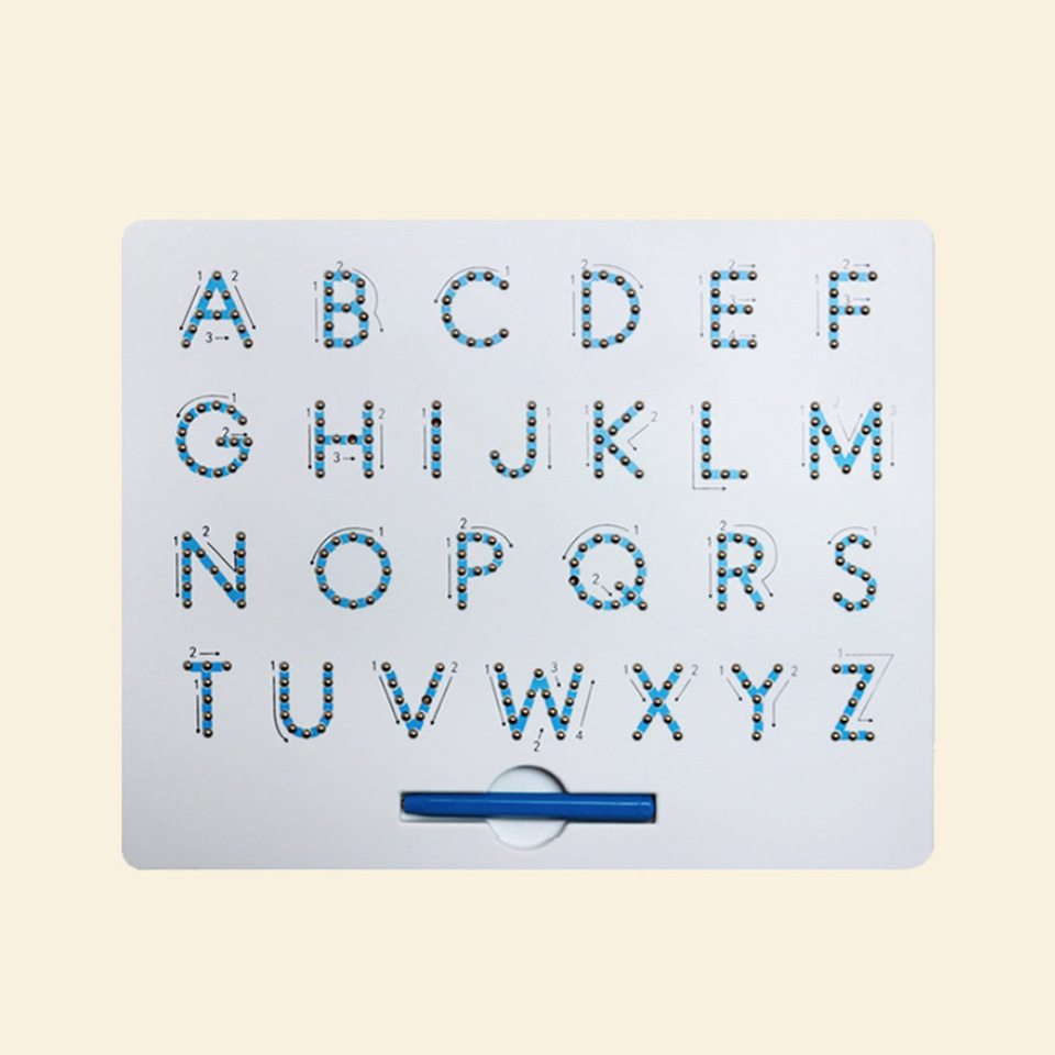 Us $12.84 27% Off|Magnetic Alphabet Letter Tracing Board With Stylus Pen  Educational Toy Set Learning Spelling Writing For Kids|Drawing Toys| - for Alphabet Tracing Order