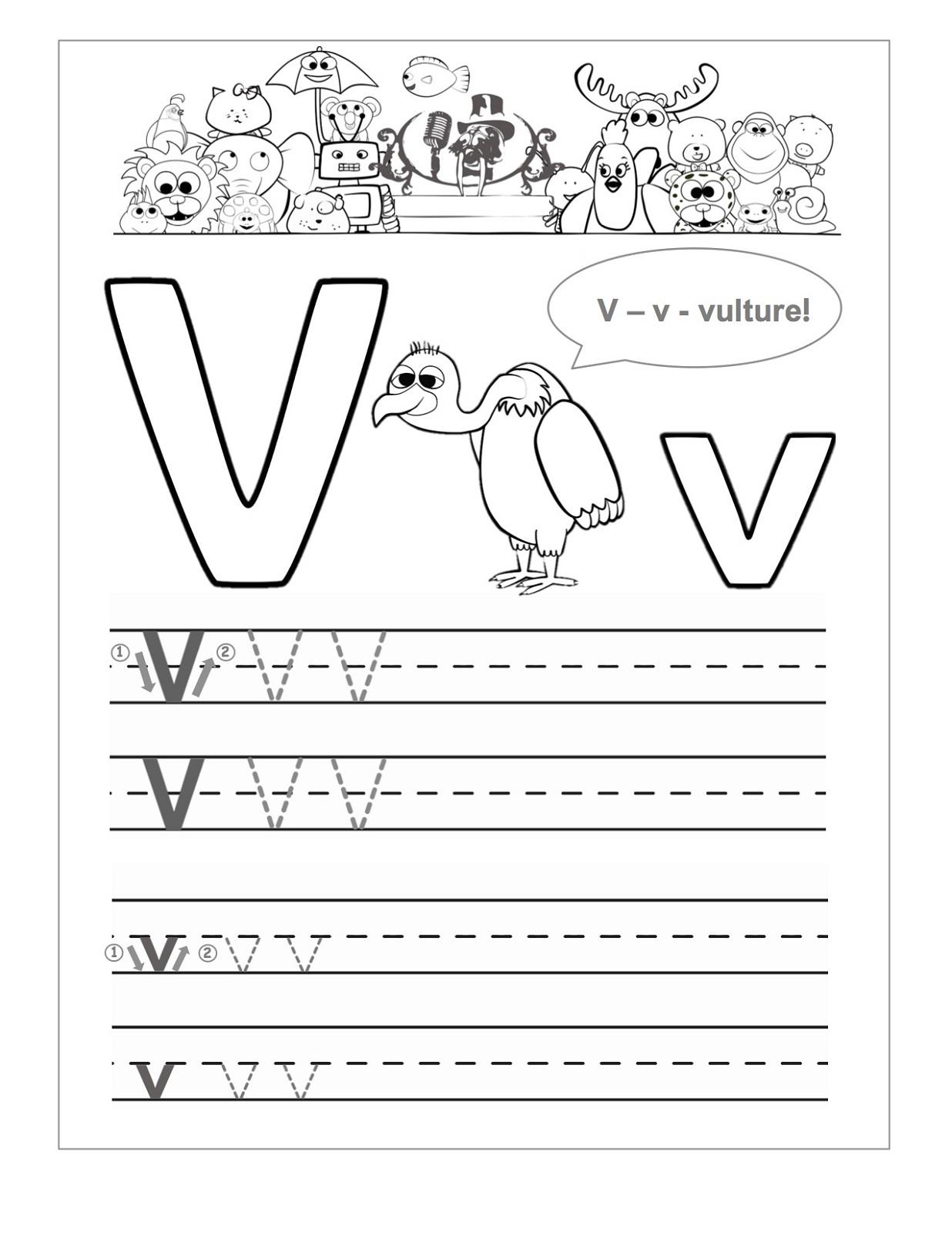V Tracing Worksheet | Printable Worksheets And Activities throughout Letter V Worksheets For Prek