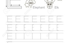 Alphabet E Tracing Worksheets