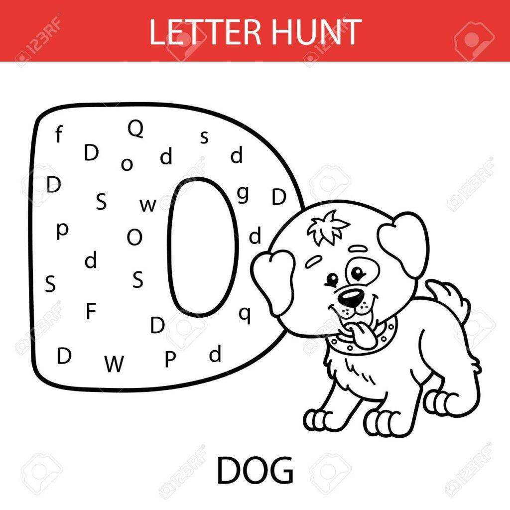 Vector Illustration Of Printable Kids Alphabet Worksheets Educational.. In Alphabet Worksheets Toddler