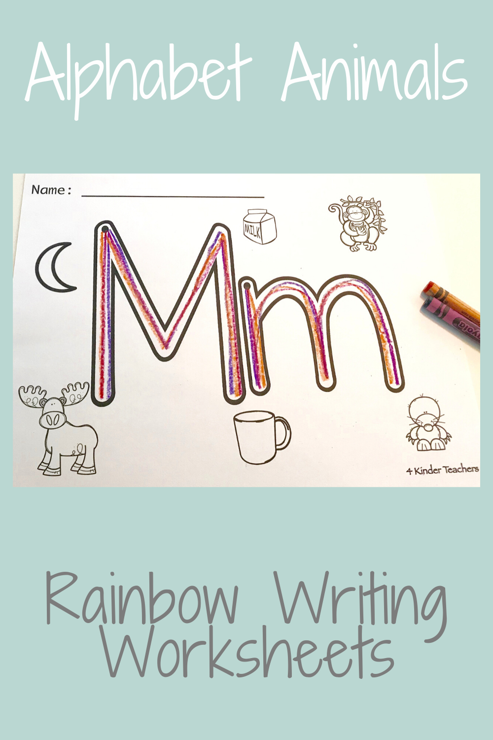 What Is Rainbow Writing - Fun, Engaging Activity - 4 Kinder pertaining to Rainbow Name Tracing