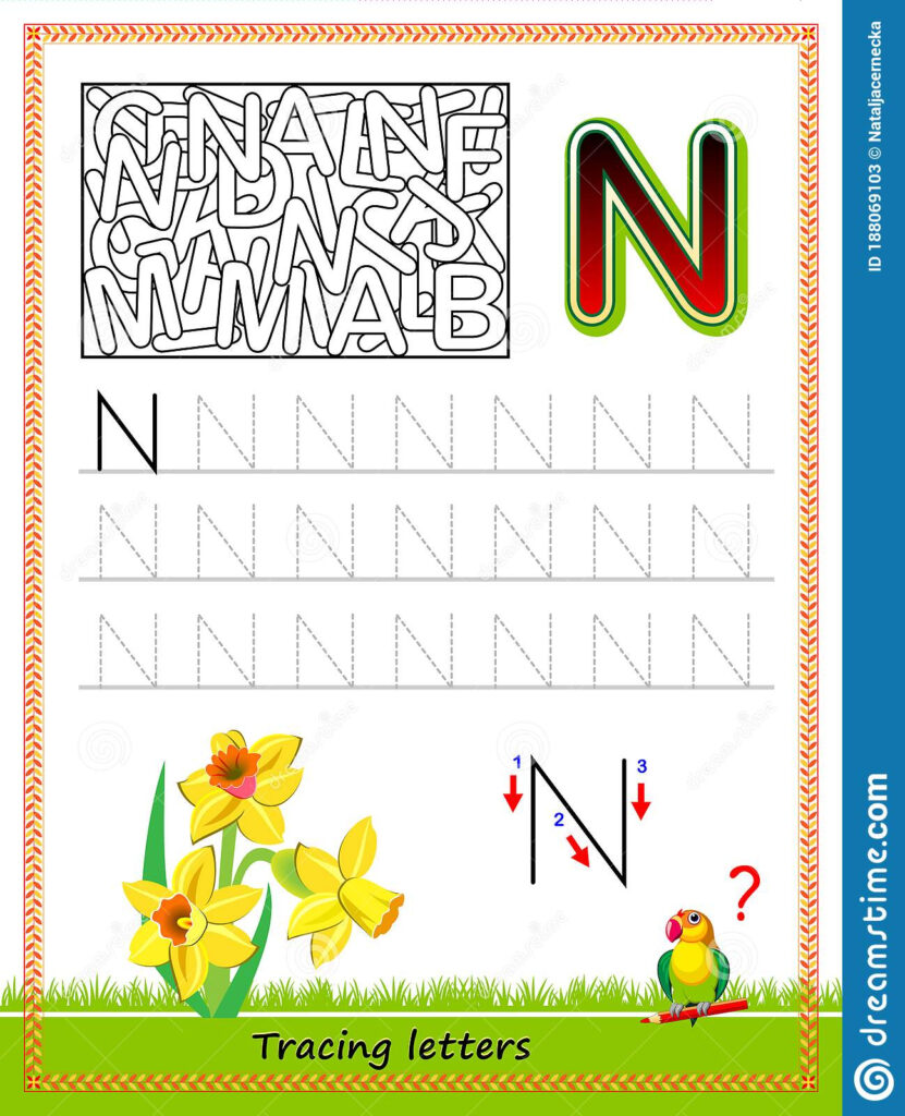 Worksheet For Tracing Letters. Find And Paint All Letters N Intended For Abc Tracing Online