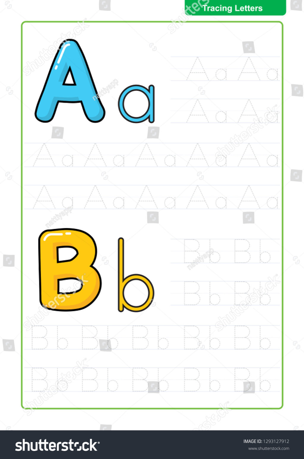 Worksheet ~ Stock Vector Alphabet Letters Tracing Worksheet with regard to Letter Tracing Vector