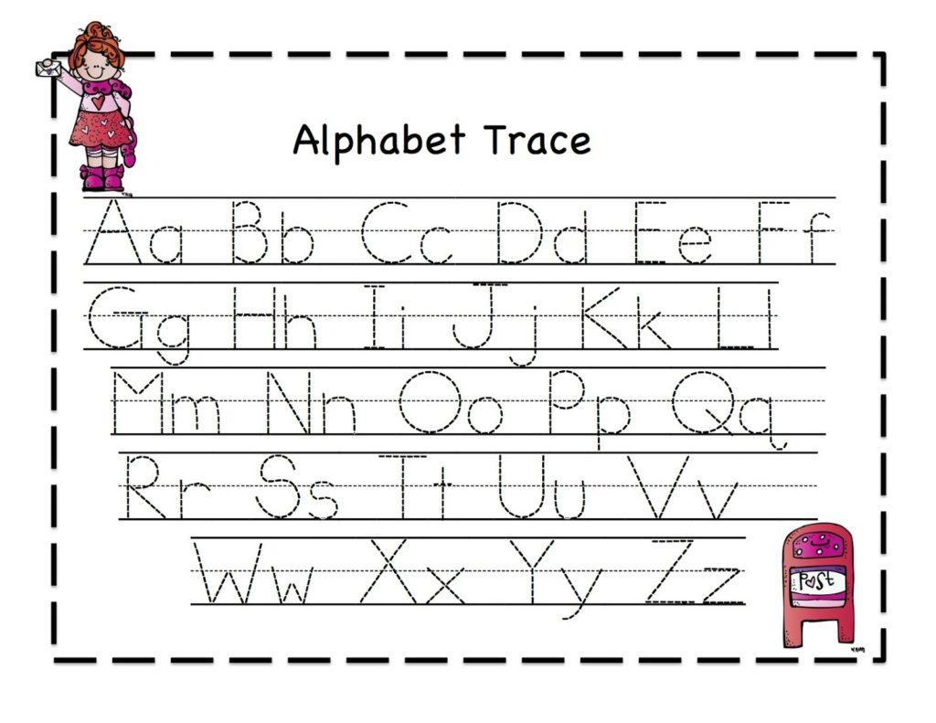 Worksheet ~ Tracing Sheets For Preschoolids Alphabet regarding Pre K Alphabet Tracing
