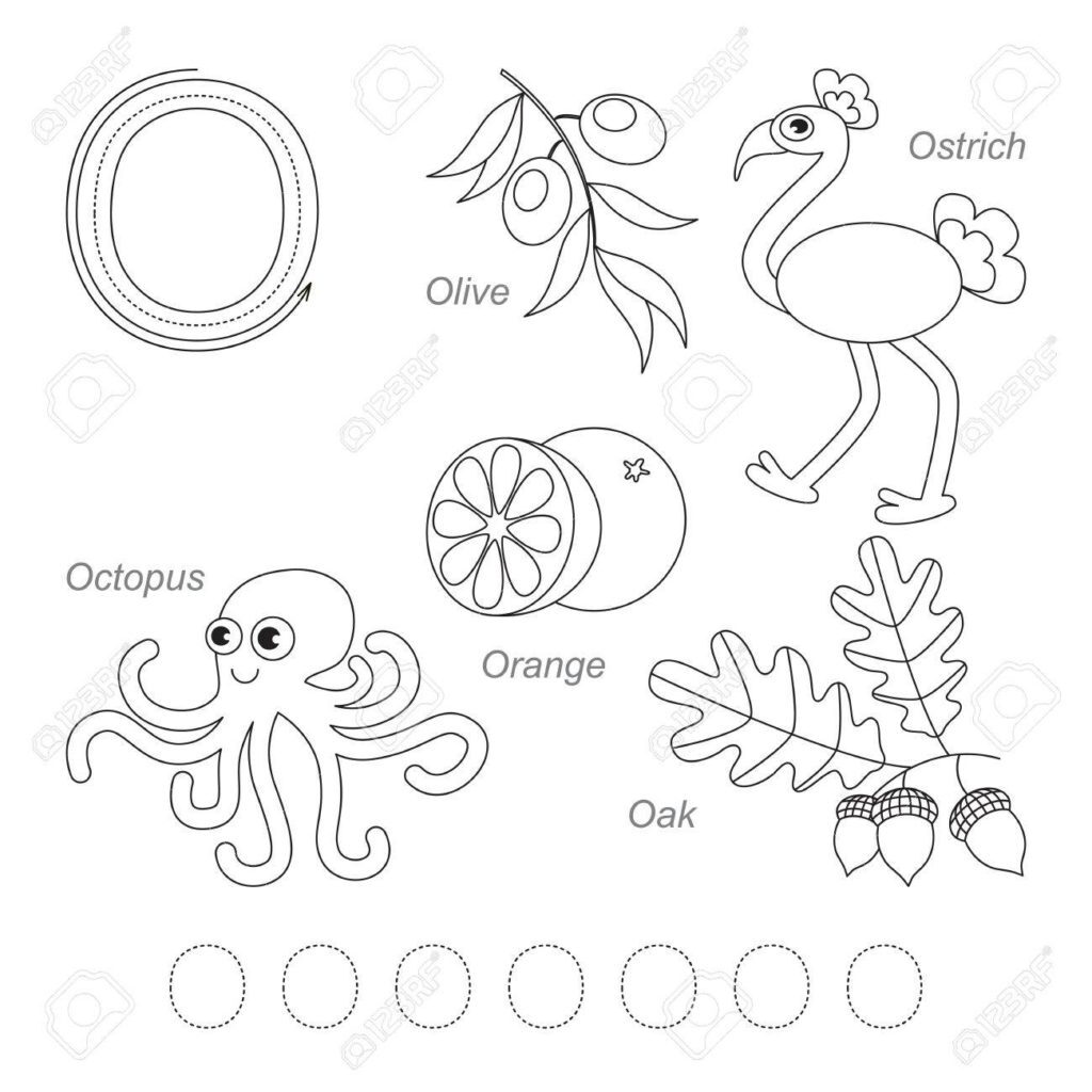 Worksheet ~ Tracing Worksheet For Children Full English With Regard To Alphabet O Tracing