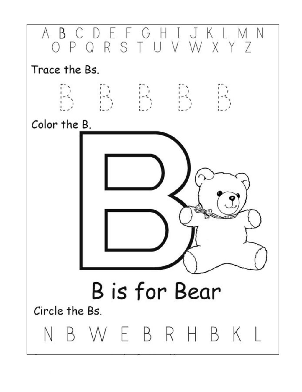 Worksheet ~ Worksheets For Pre K Worksheet Free Bear regarding Letter A Worksheets For Pre K
