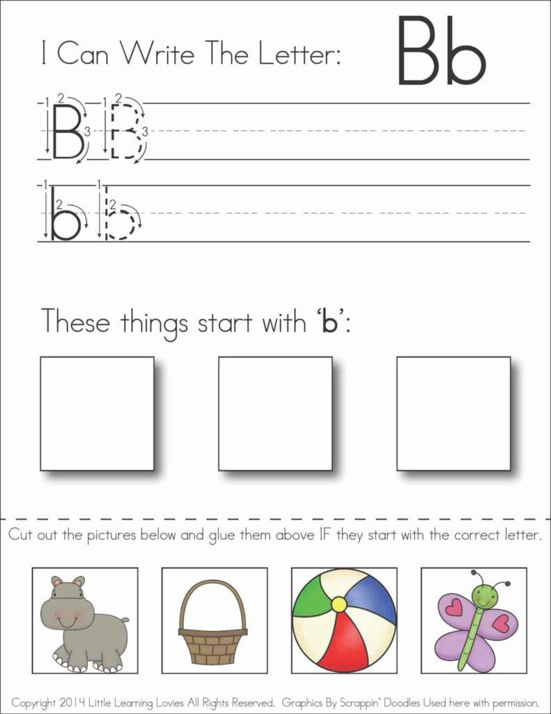 Write   Cut   Paste: Alphabet Set » Little Learning Lovies Regarding Letter B Worksheets Cut And Paste