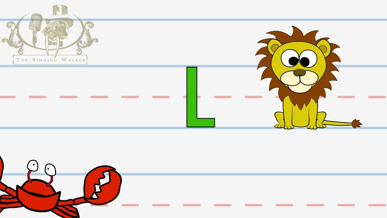 Write The Letter L | Alphabet Writing Lesson For Children | The Singing  Walrus pertaining to Letter Tracing Video