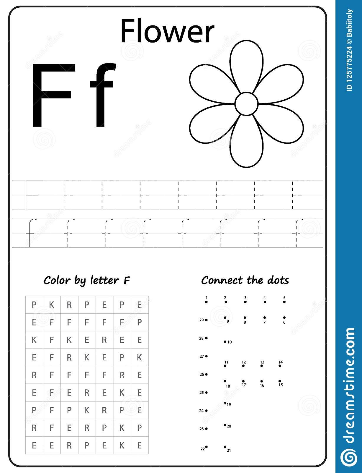 Writing Letter F. Worksheet. Writing A-Z, Alphabet intended for Letter F Worksheets For Kindergarten