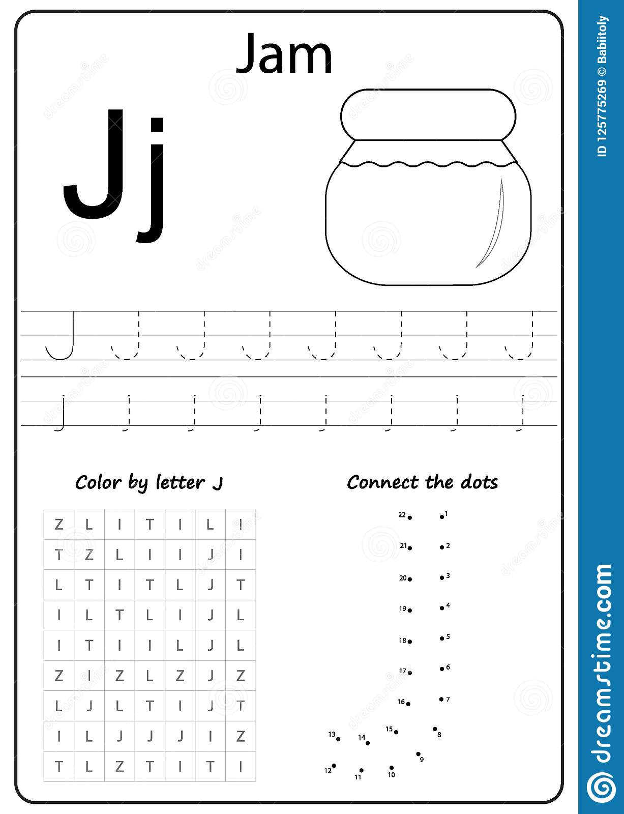 Writing Letter J. Worksheet. Writing A-Z, Alphabet regarding Letter J Worksheets Free Printables