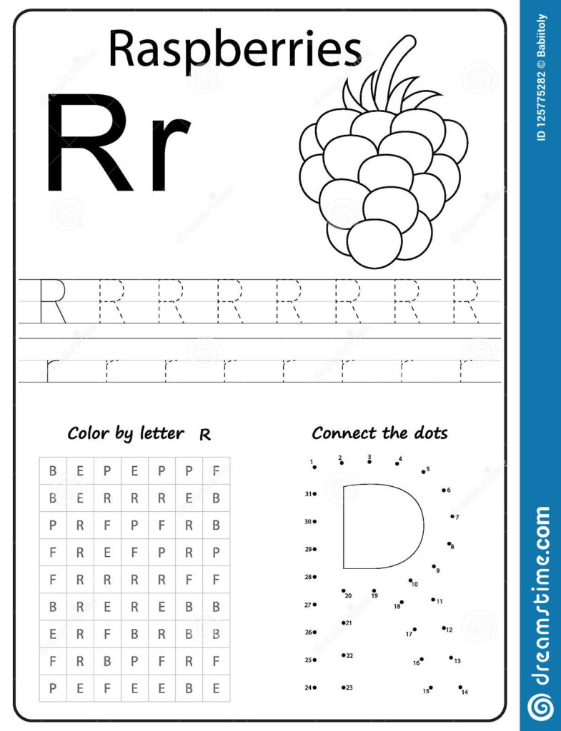 Writing Letter R. Worksheet. Writing A Z, Alphabet Throughout Letter R Worksheets Free