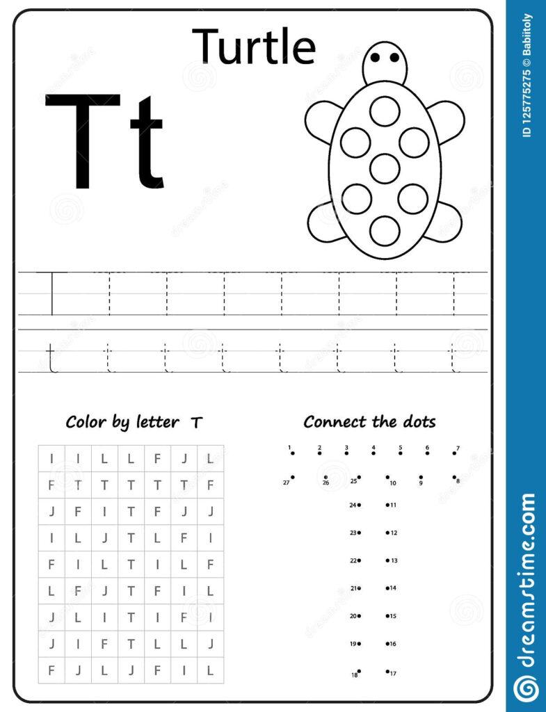 Writing Letter T. Worksheet. Writing A Z, Alphabet Regarding Letter T Worksheets Free