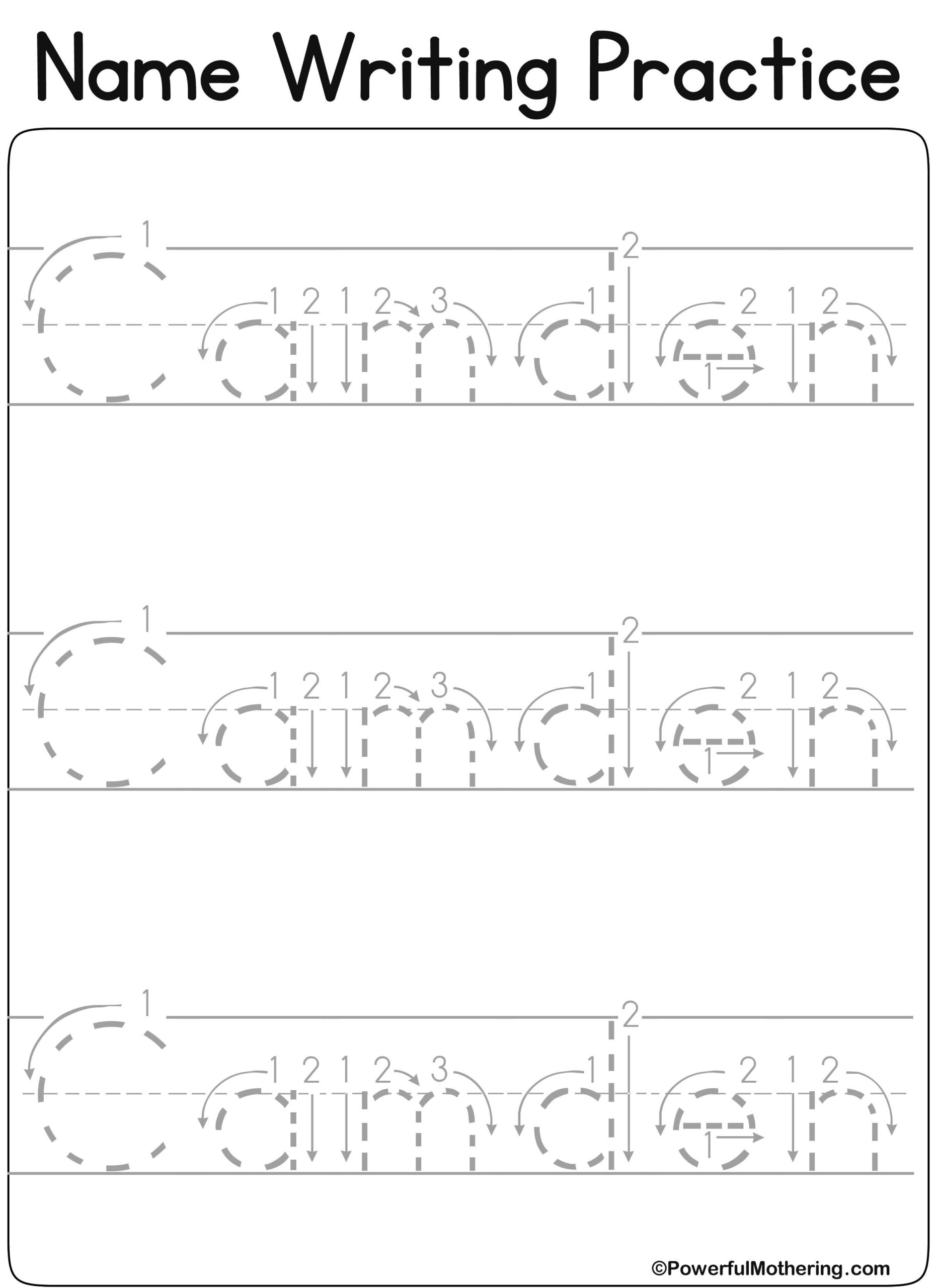 Www.createprintables Custom_Name_Get.php?text&#x3D with regard to Pre K Name Tracing Worksheets