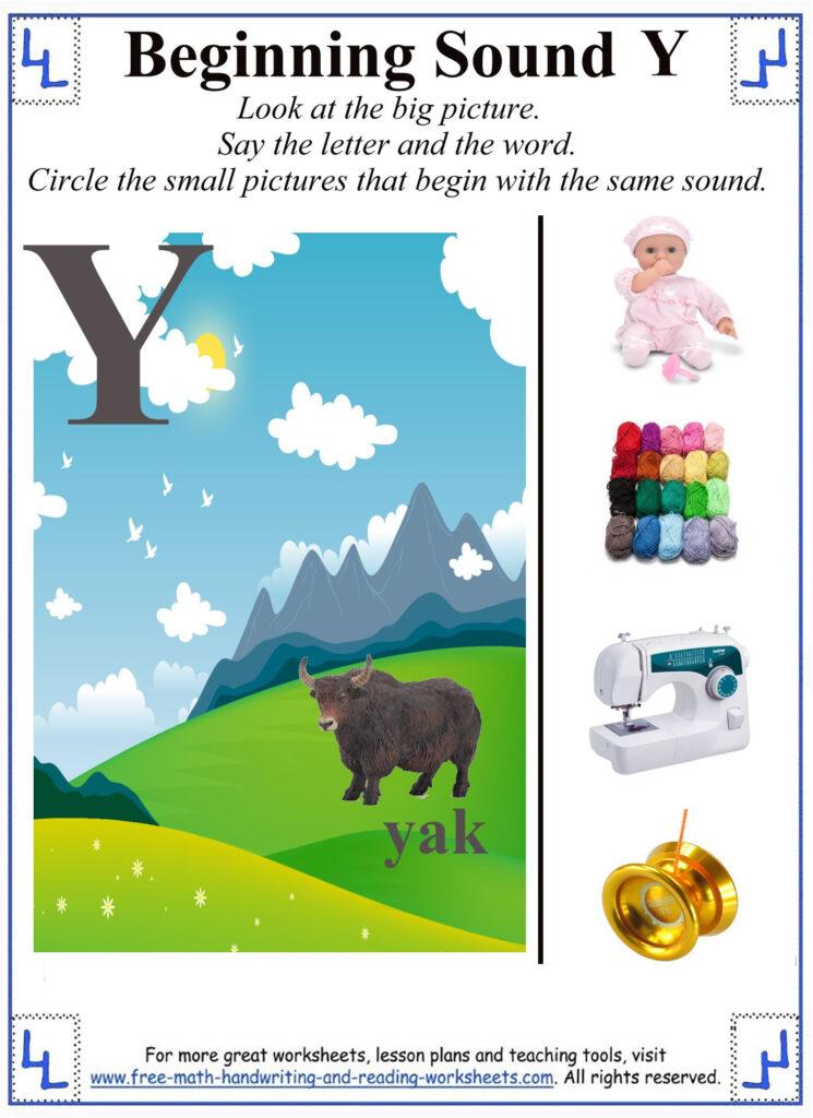 Y Letter Worksheets In Letter Y Worksheets For First Grade