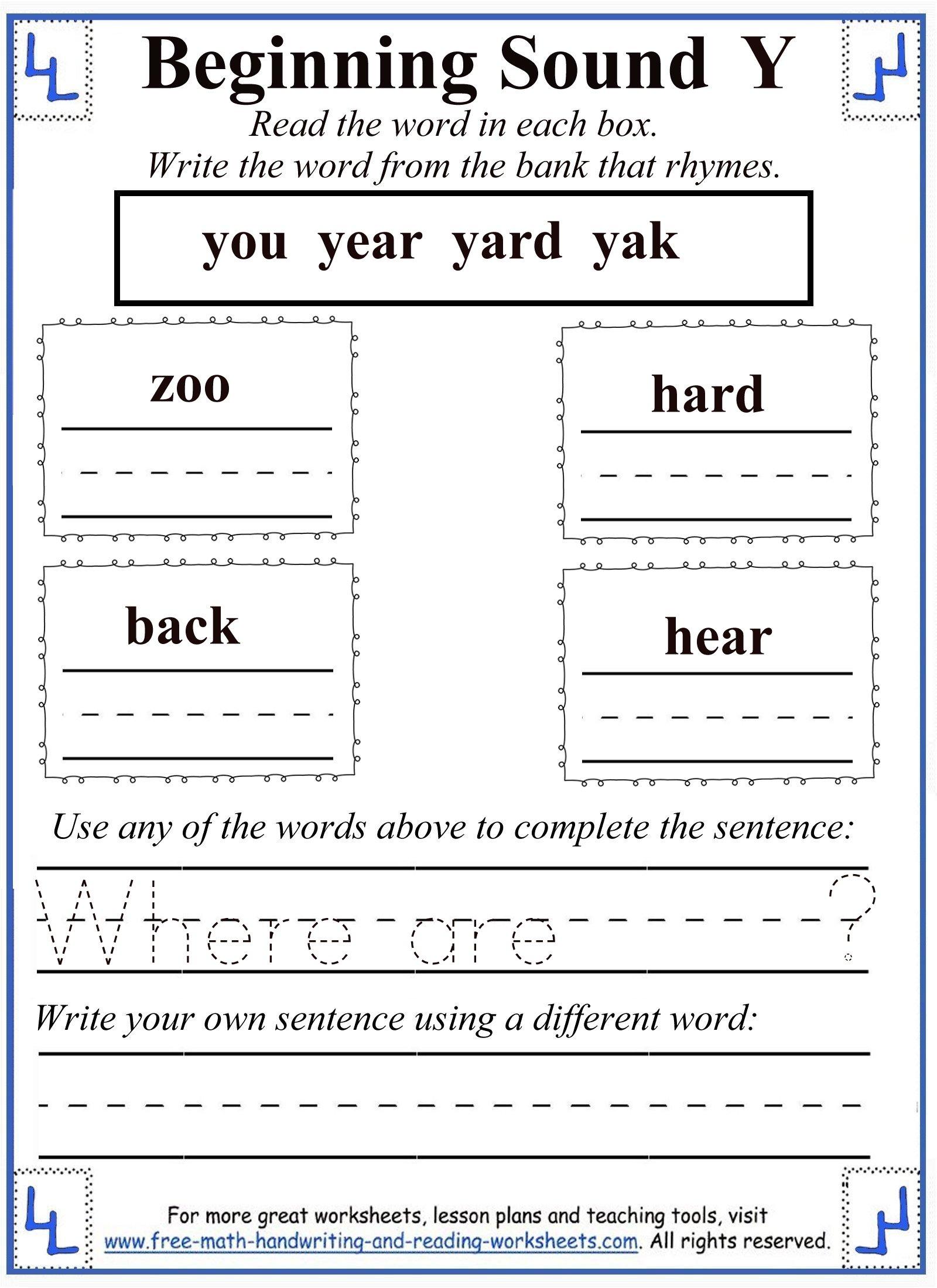 Y Letter Worksheets regarding Letter Y Worksheets For First Grade