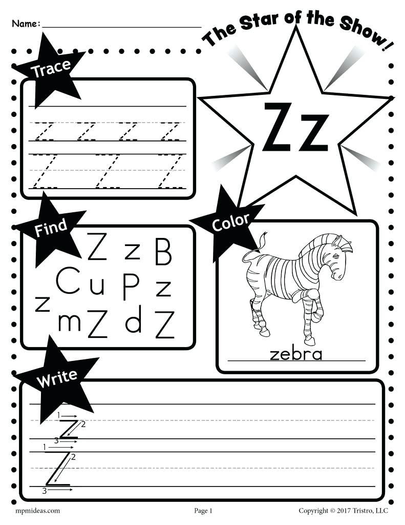 Z Worksheets Color Each Letter Z Handwriting Sheet in Letter K Worksheets Twisty Noodle
