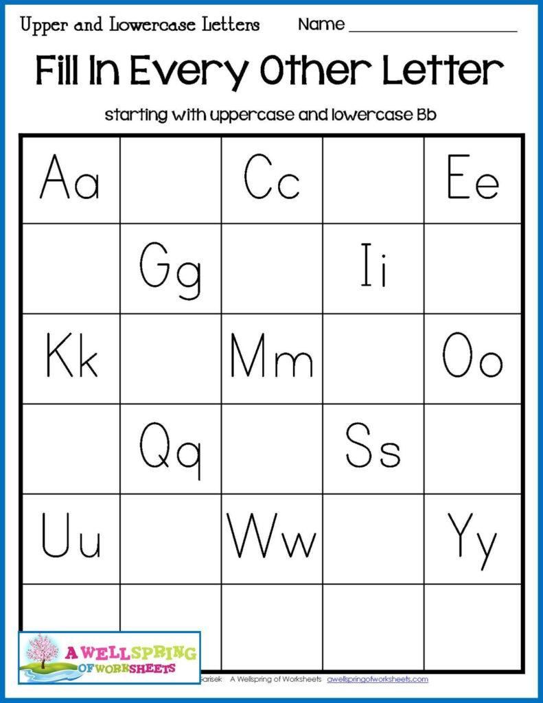 10 Missing Letters Worksheet In 2020 | Alphabet Worksheets Throughout Letter 10 Worksheets