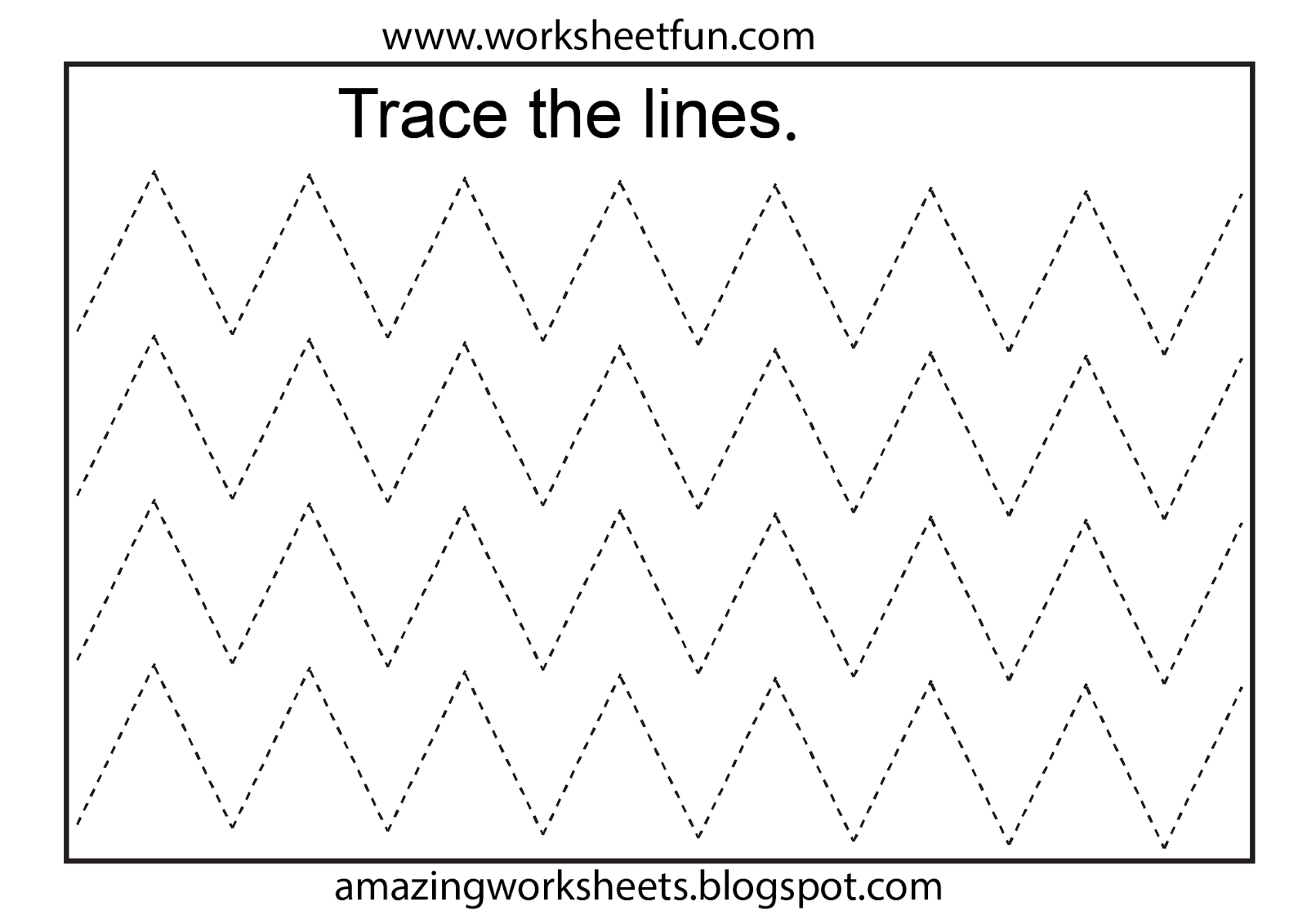 11 Best Tracing Lines Worksheets For Toddlers Images On